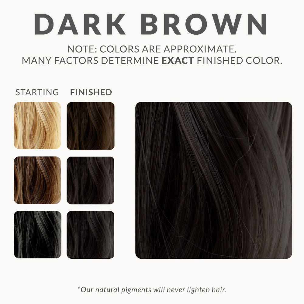 Dark Brown Henna Hair Dye Henna Color Lab 174 Henna Hair Dye