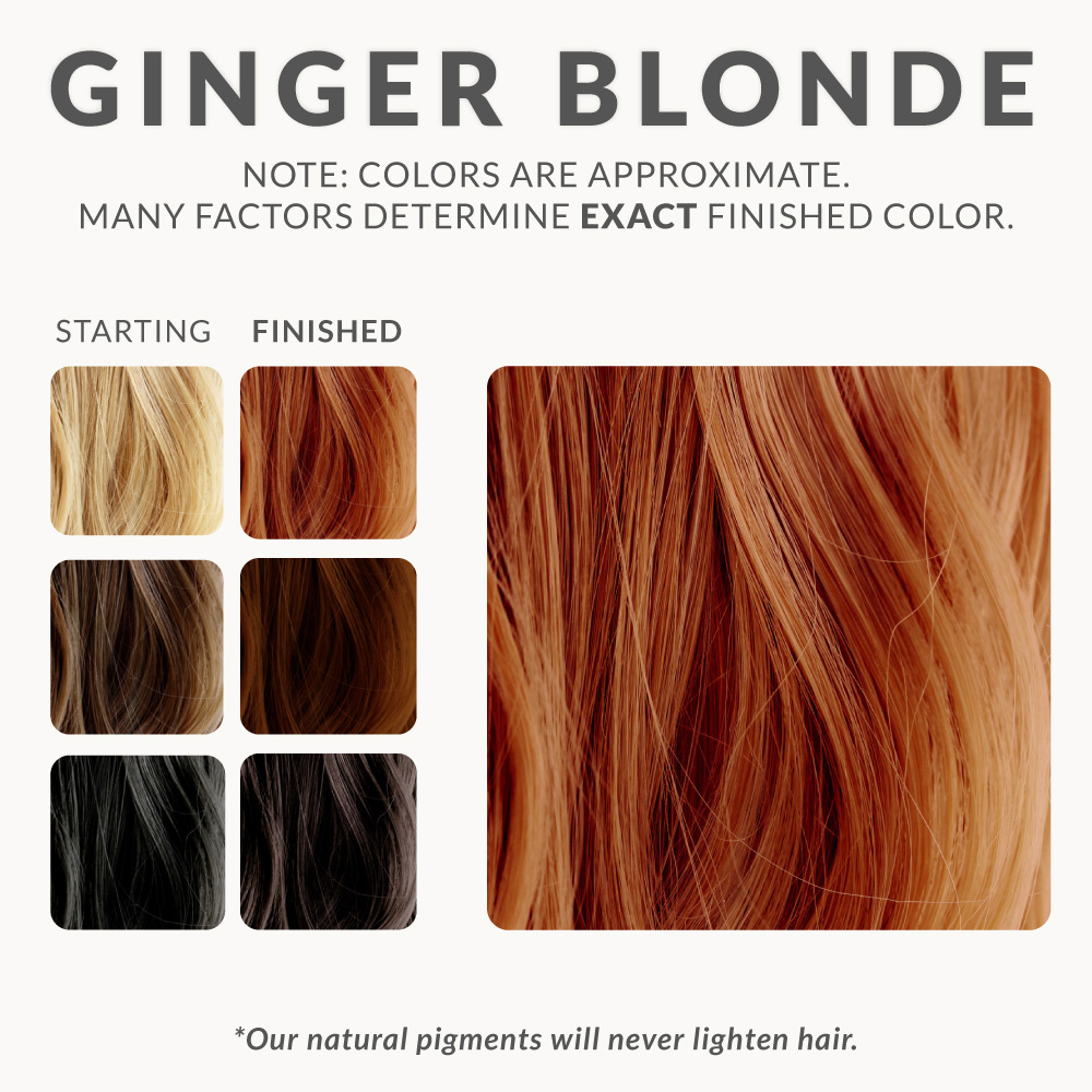 Ginger Blonde Henna Hair Dye – Henna Color Lab® – Henna