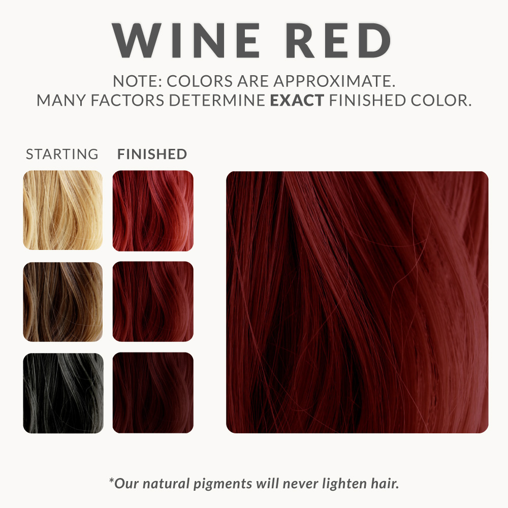 Wine Red Henna Hair Dye Henna Color Lab 174 Henna Hair Dye