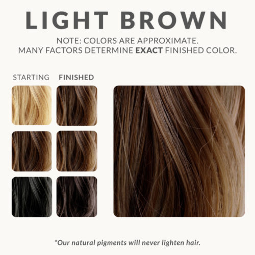 Light Brown Henna Hair Dye – Henna Color Lab® – Henna Hair Dye